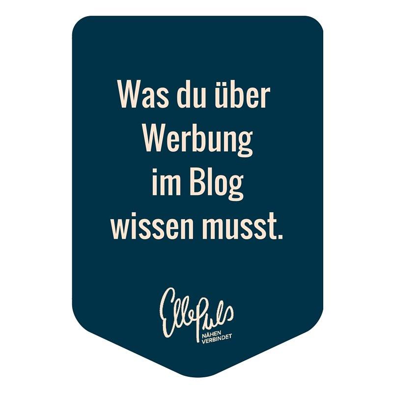 Werbung kennzeichnen in Blogs