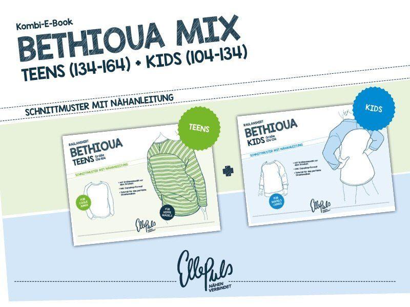 """Kombi Ebook """"Bethioua Teens & Kids"""" Gr. 104-164 - Nähanleitung und ..."""