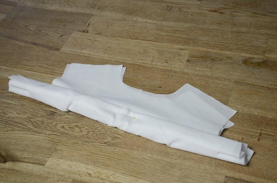 Rückenpasse verstürzen bei einer Bluse