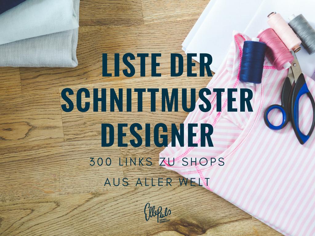 Die lange Liste der Schnittmuster Designer - List of sewing pattern ...