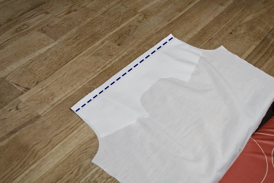Passe verstürzen bei einer Bluse