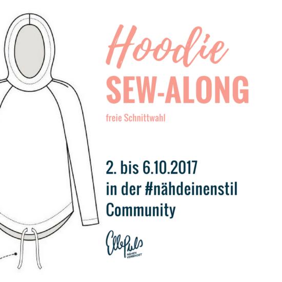 """Einladung Sew-Along. Raglan-Hoodie Schnittmuster """"Josie"""" in deutscher Übersetzung via Elle Puls."""