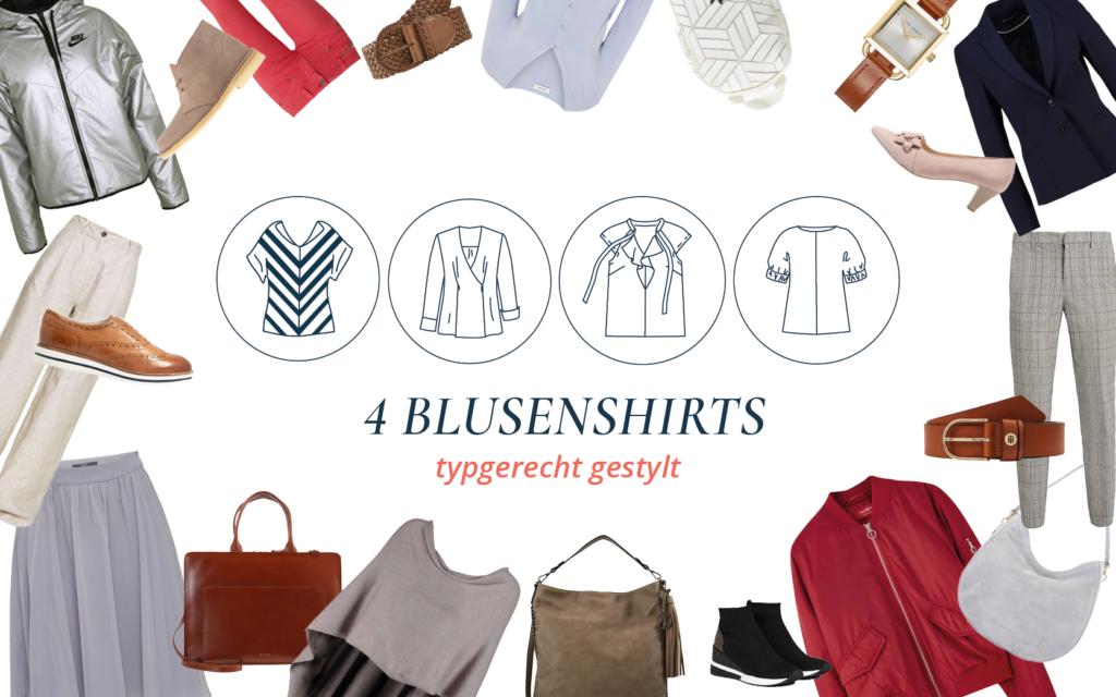 Blusenshirts verschieden stylen