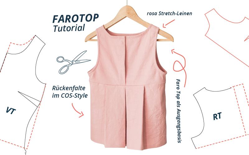 Faro Top Rückenfalte