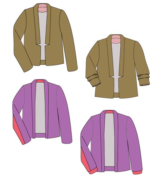 9 tolle Schnittmuster für kombifreudige Jacken